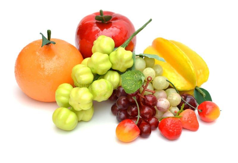 Frutos artificiais sortidos imagem de stock