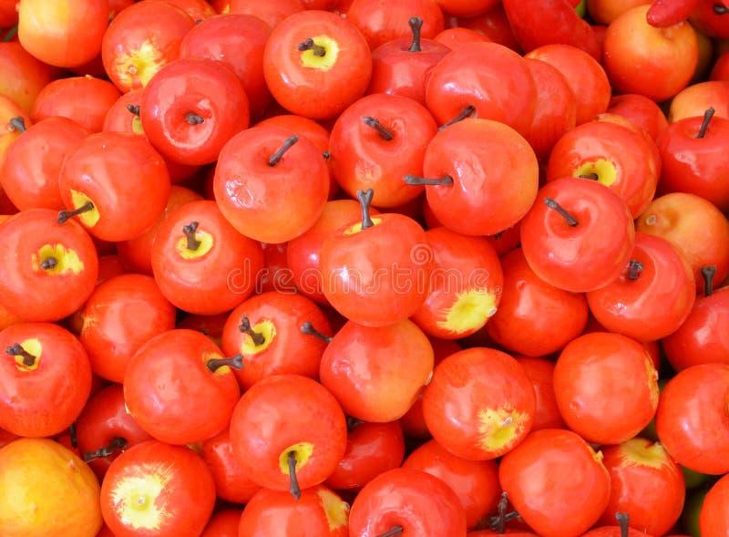 Frutos artificiais sortidos foto de stock