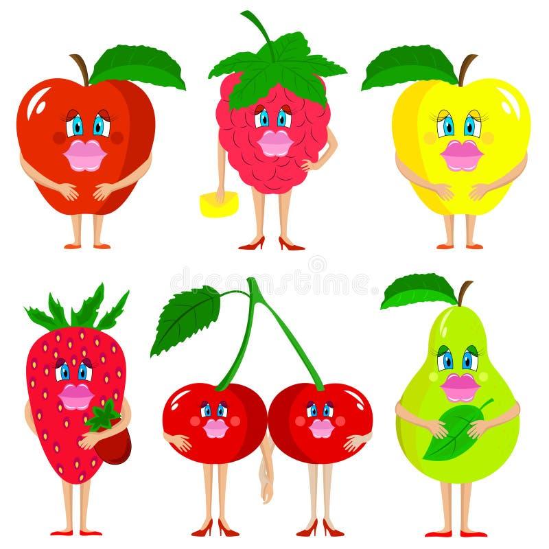 Frutos bonitos da senhora ilustração stock