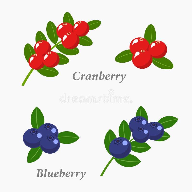 Frutos de baga ilustração stock