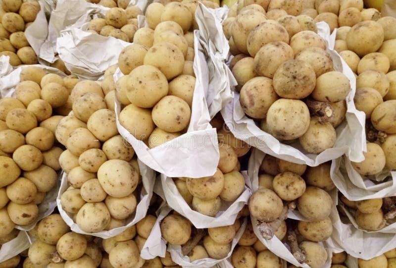 Frutos de Longkong ou de Lanzones imagens de stock