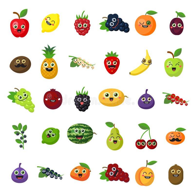 Frutos de sorriso felizes ilustração do vetor