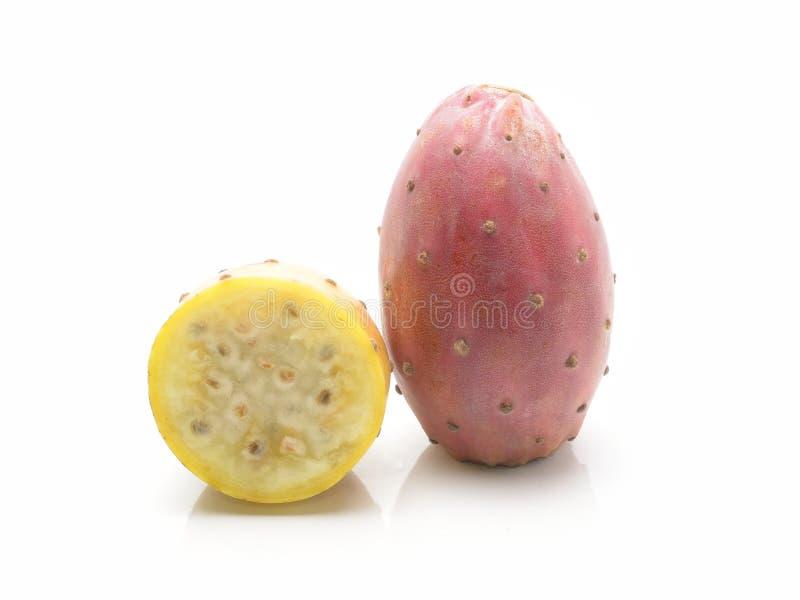 Frutos do cacto isolados no branco fotografia de stock royalty free