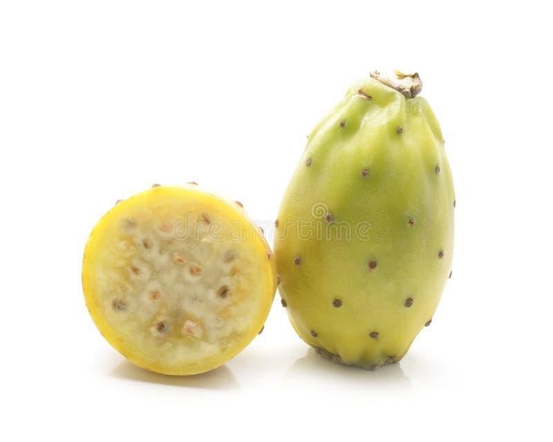 Frutos do cacto isolados no branco fotos de stock royalty free
