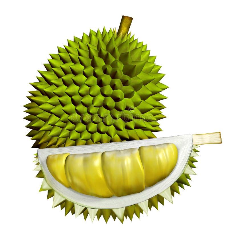 frutos do Durian 3D ilustração do vetor