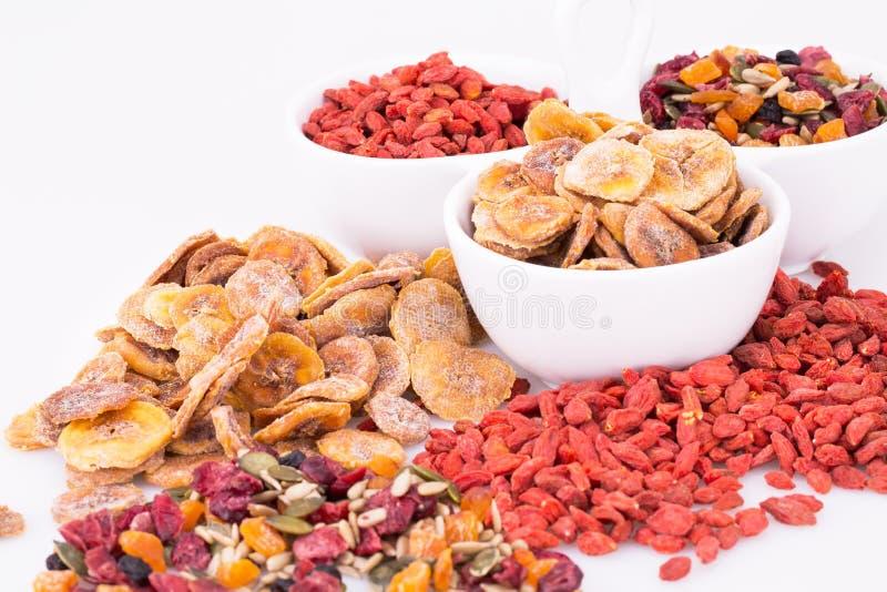 Frutos e bagas secados fotografia de stock