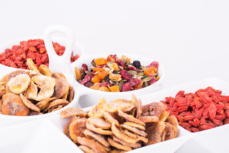 Frutos e bagas secados imagem de stock