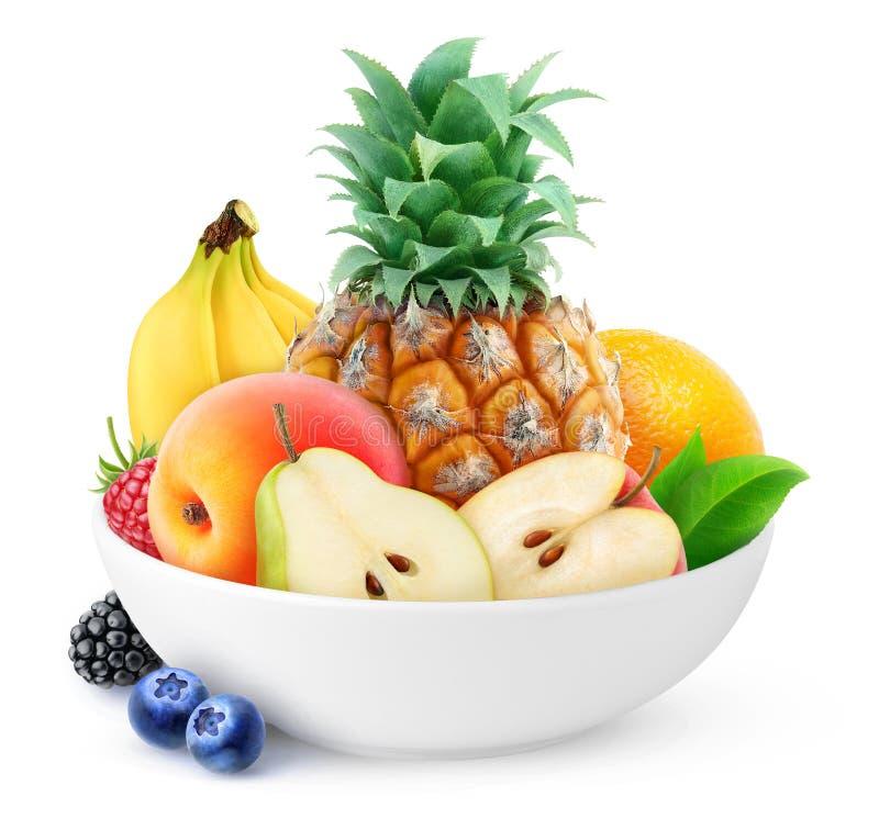 Frutos em uma bacia foto de stock