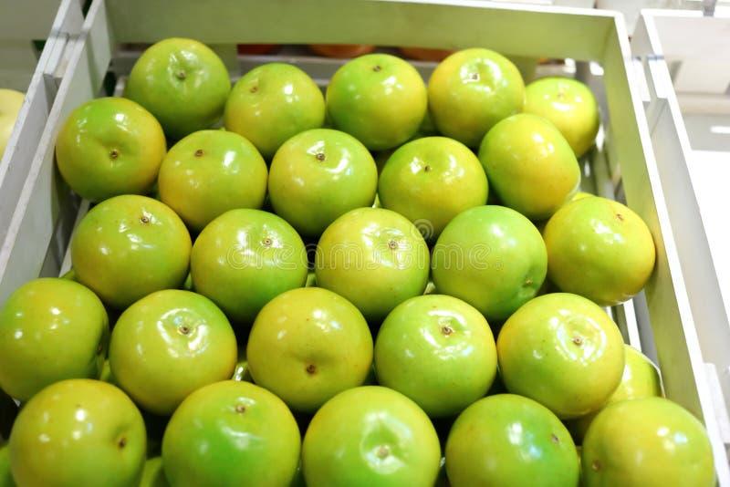 Frutos falsificados e frutos em prateleiras imagens de stock royalty free