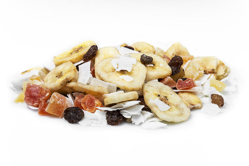 Frutos secados mistura imagens de stock
