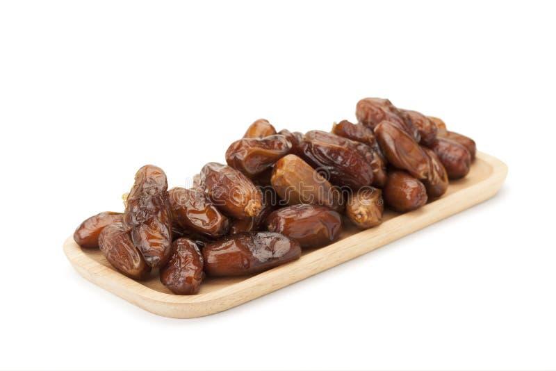 Frutos secos da palma de data imagem de stock