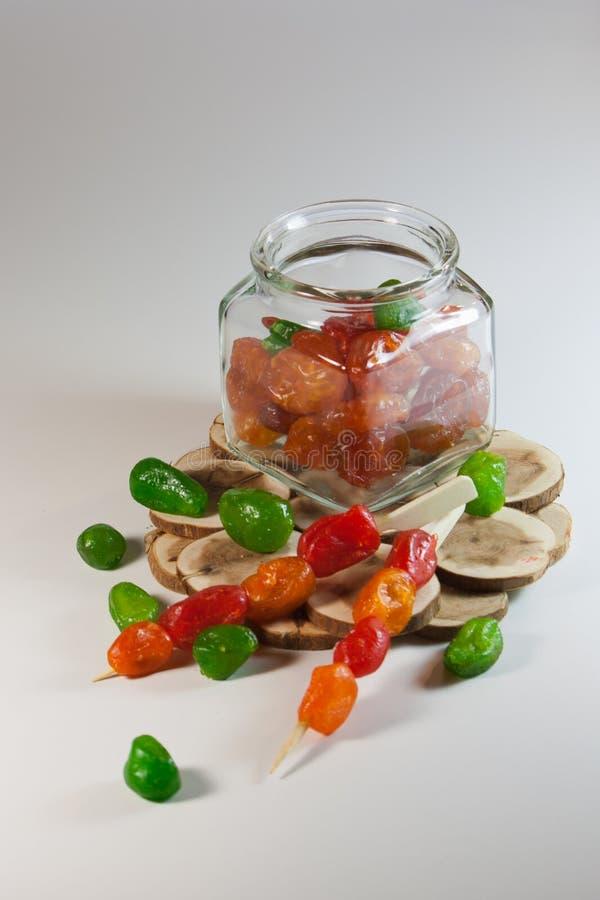Frutos secos escarchados de la mezcla foto de archivo libre de regalías