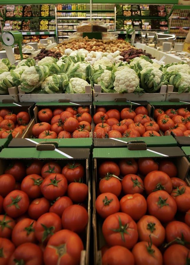 Frutos & vegetais no mercado imagem de stock royalty free