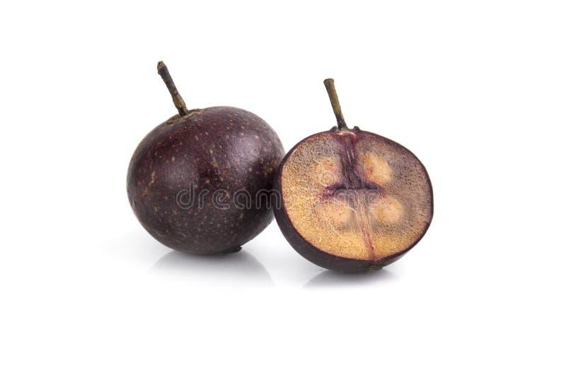 Frutos vermelhos do calabura de Multingia ou da cereja de Manila imagens de stock