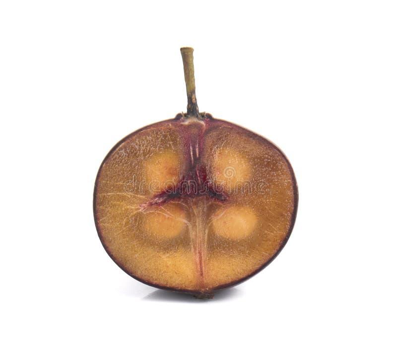Frutos vermelhos do calabura de Multingia ou da cereja de Manila fotografia de stock