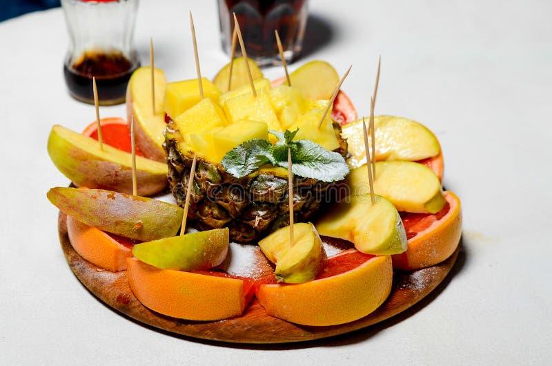 Frutta affettata fotografia stock
