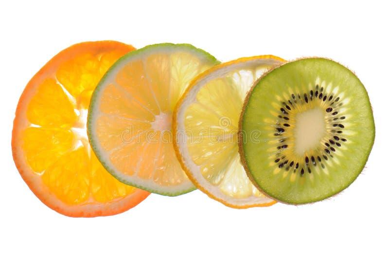 Frutta affettata differente fotografia stock