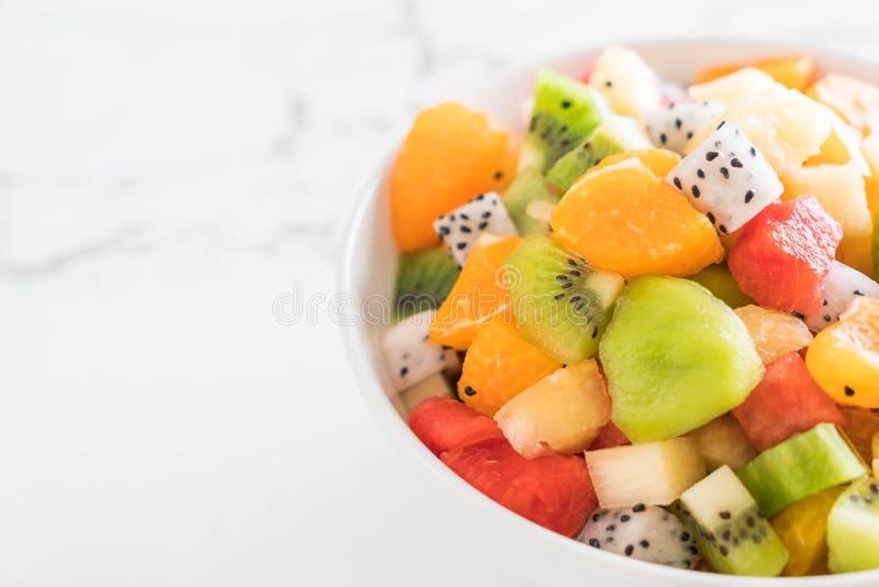 Frutta affettata miscela fotografie stock libere da diritti
