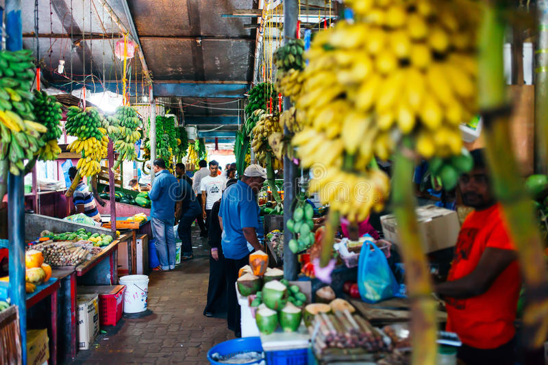 Frutta all'interno fresca e mercato nel maschio della città, la capitale delle verdure delle Maldive immagine stock libera da diritti