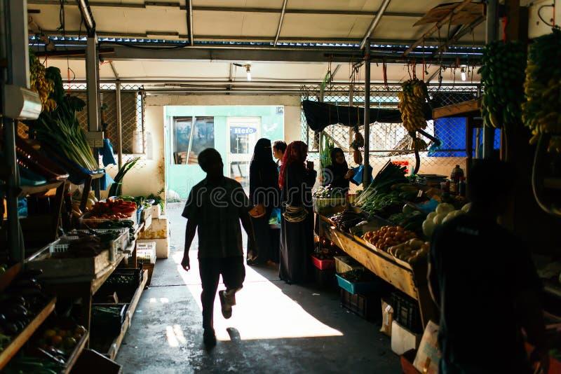 Frutta all'interno fresca e mercato nel maschio della città, la capitale delle verdure delle Maldive fotografia stock