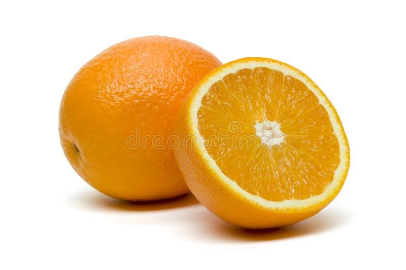 Frutta arancio con la fetta fotografie stock libere da diritti