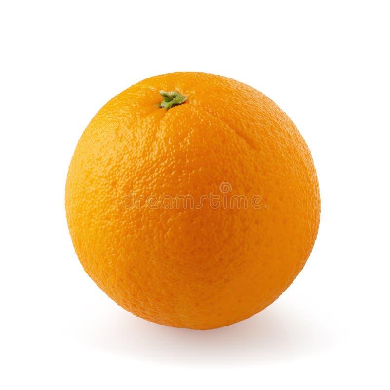 Frutta arancio isolata su un fondo bianco fotografie stock
