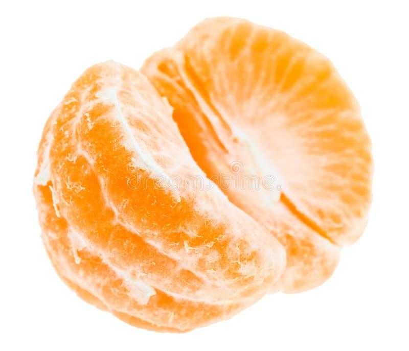 Frutta arancio sbucciata del mandarino del mandarino dolce saporito fotografia stock