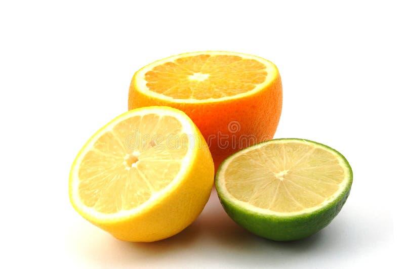 Frutta arancione e cedrata del limone immagini stock libere da diritti