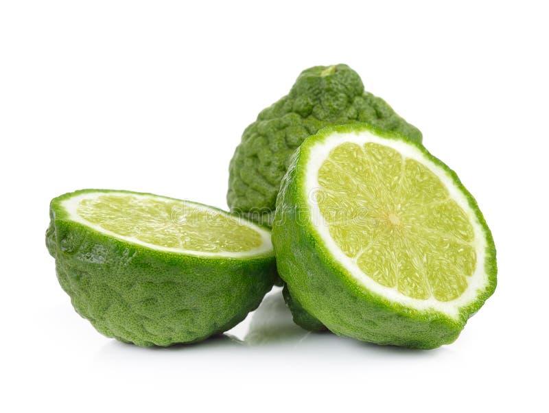 Frutta del bergamotto su fondo bianco fotografie stock