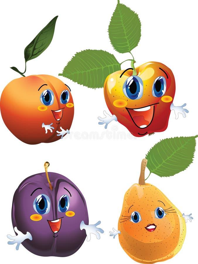 Frutta del fumetto illustrazione vettoriale