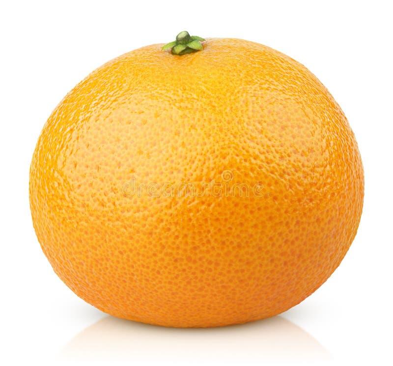 Frutta del mandarino (mandarino) isolata su bianco fotografia stock libera da diritti