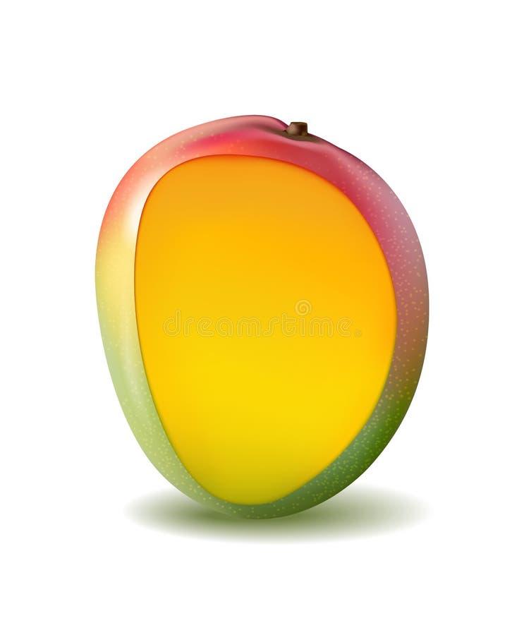 Frutta del mango per succo fresco ri giallo 3d, rosso, arancio realistico royalty illustrazione gratis