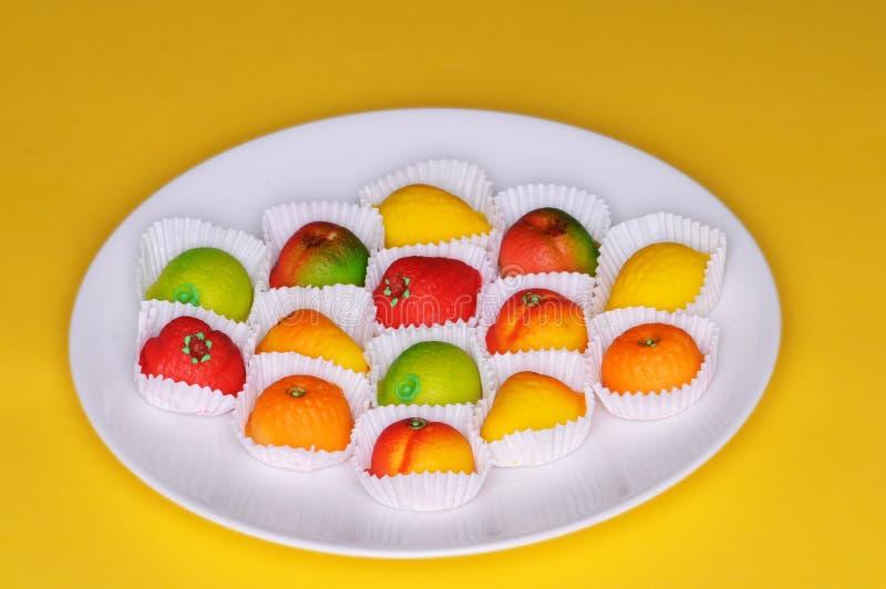 Frutta del marzapane immagine stock libera da diritti
