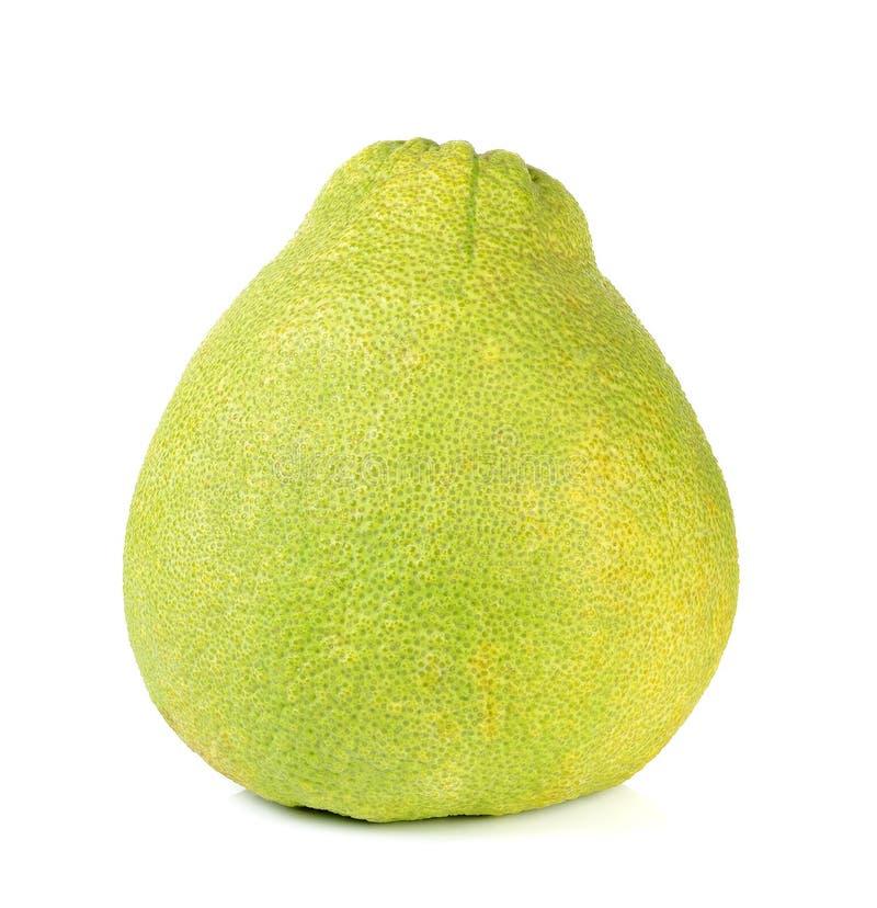 Frutta del pomelo isolata sui precedenti bianchi immagini stock