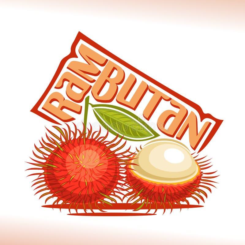 Frutta del Rambutan di logo di vettore royalty illustrazione gratis
