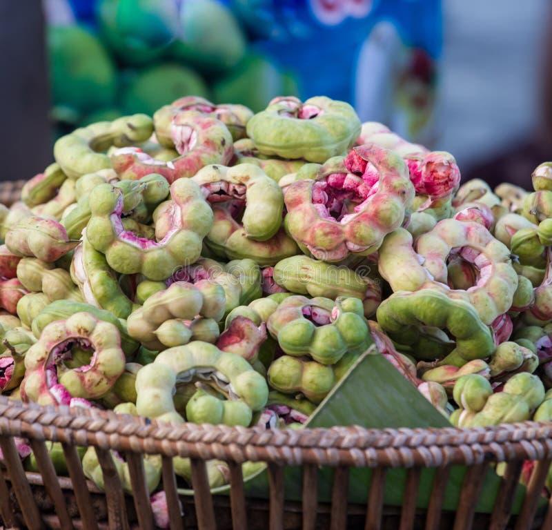 Frutta del tamarindo di Manila (pithecellobium dulce Benth.) fotografia stock libera da diritti