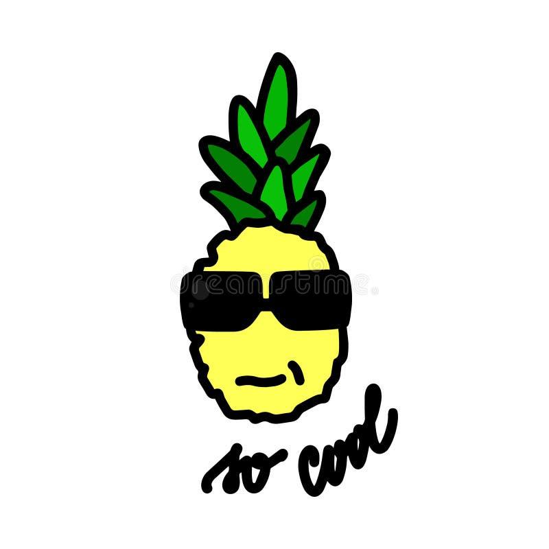 Frutta dell'ananas Vettore disegnato a mano dell'illustrazione royalty illustrazione gratis