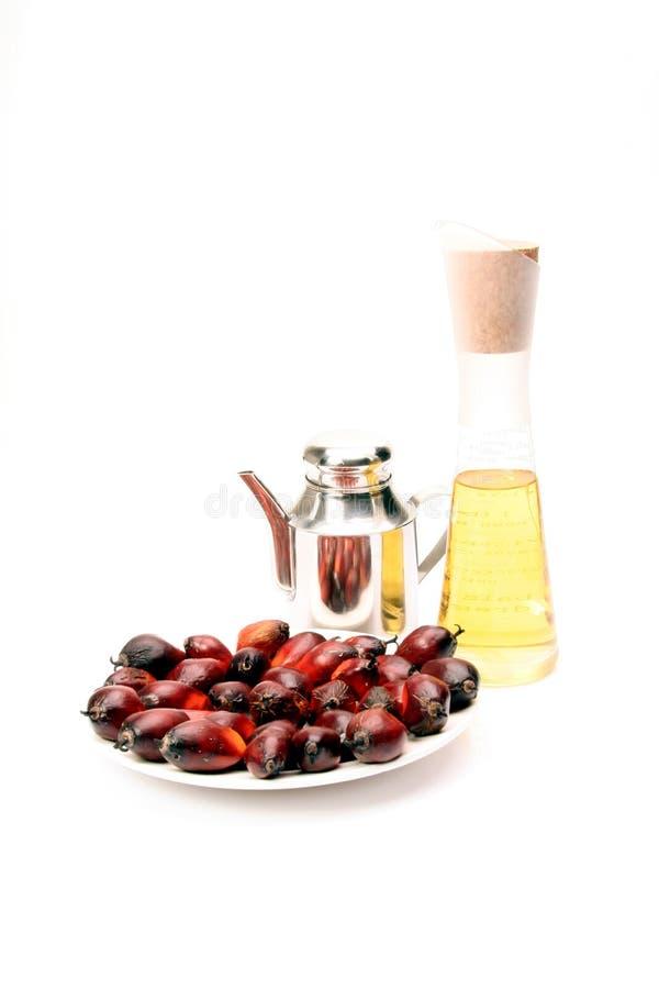 Frutta Dell Olio Di Palma Ed Olio Fotografia Stock Libera da Diritti
