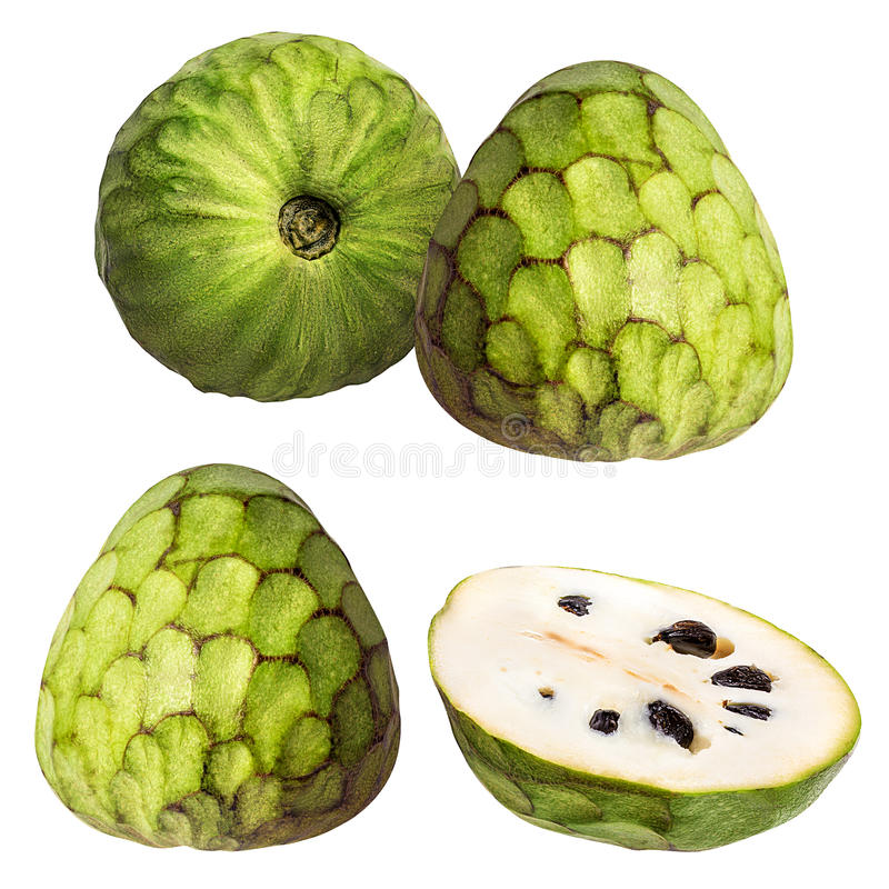 Frutta della cherimolia su bianco fotografia stock libera da diritti