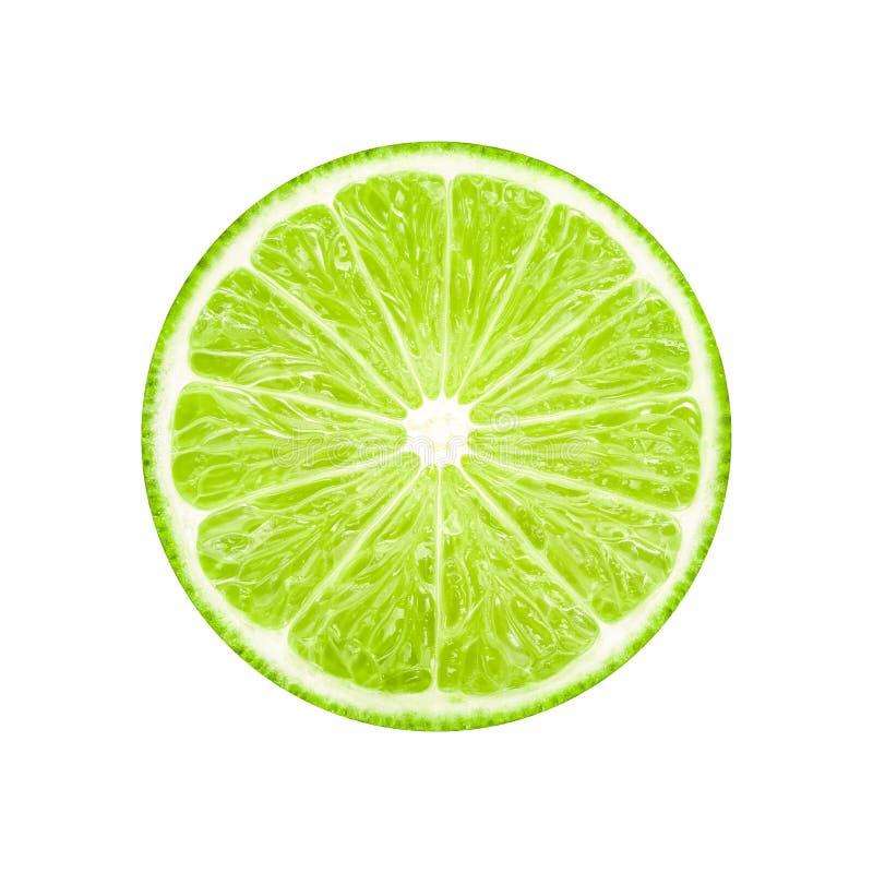 Frutta della fetta della calce fotografie stock libere da diritti