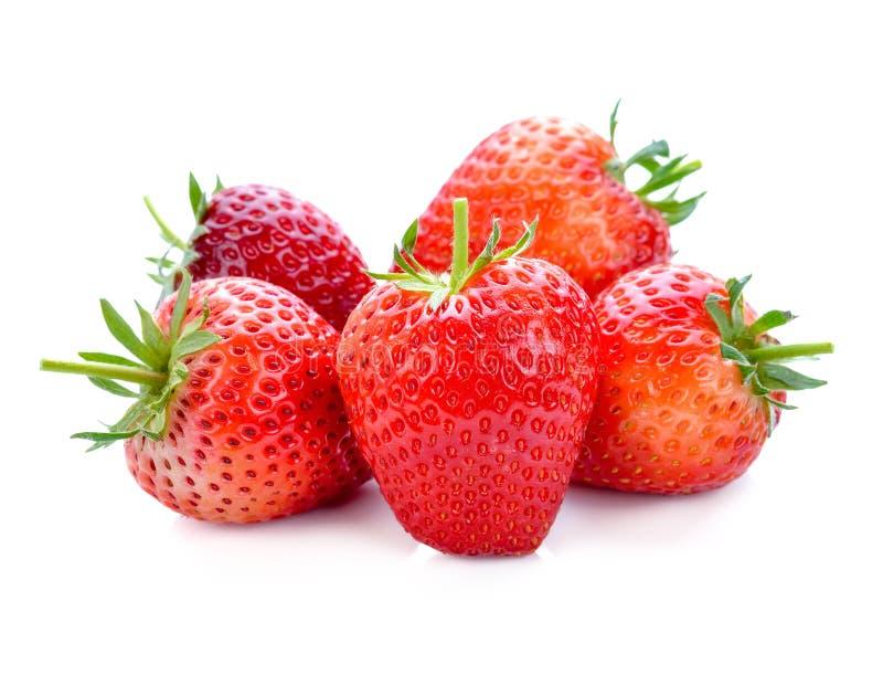 Frutta della fragola isolata su bianco fotografie stock libere da diritti