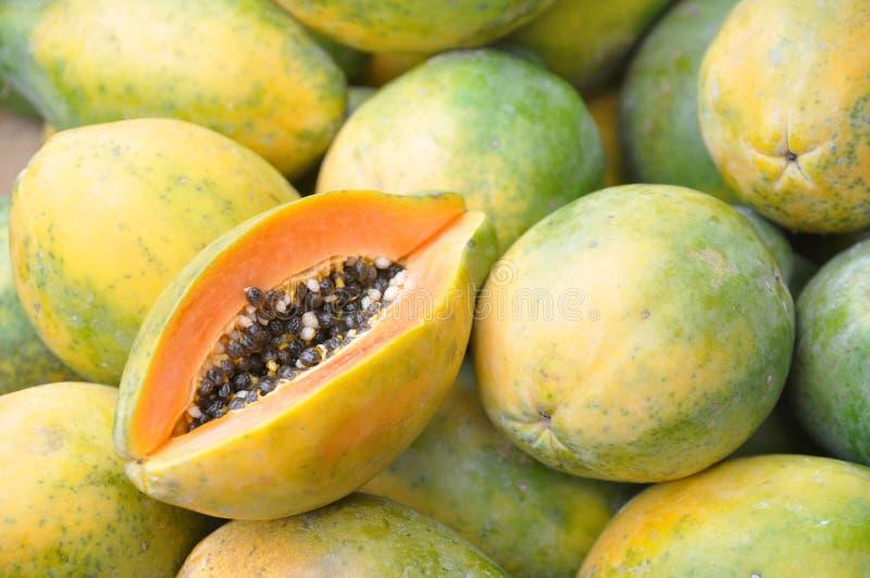 Frutta della papaia fotografie stock