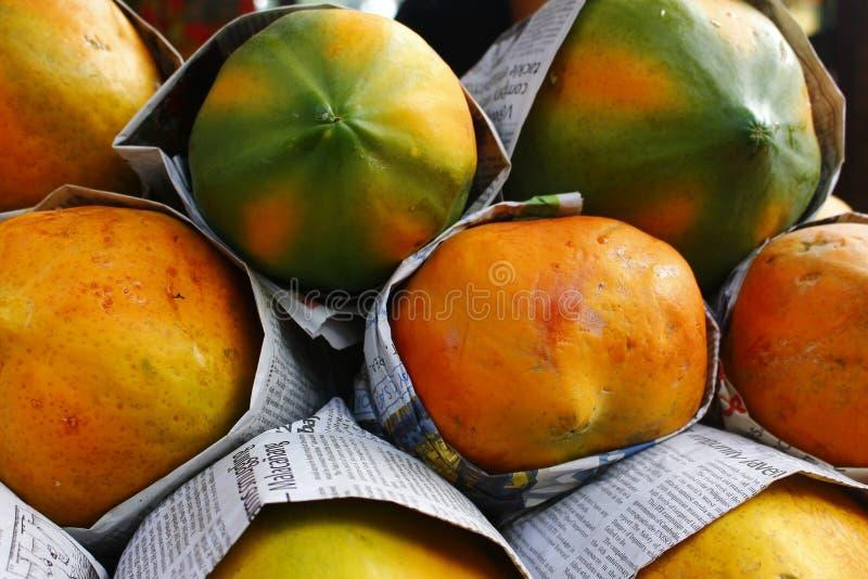 Frutta della papaia fotografia stock libera da diritti