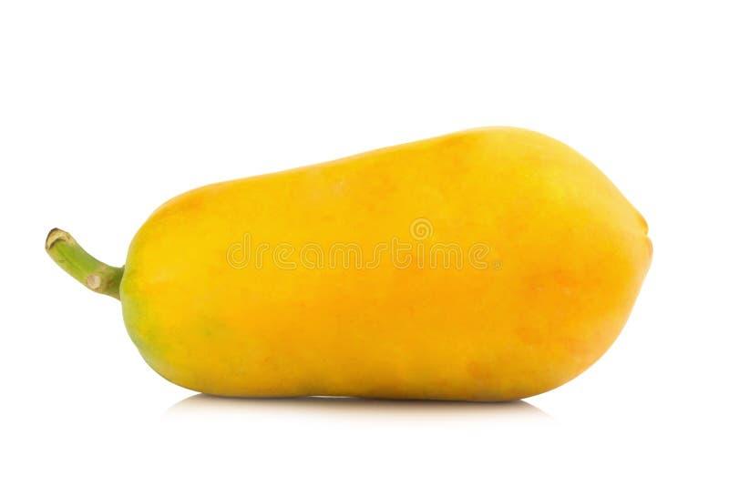 Frutta della papaia Arancia di colore Asiatico Isolato su priorità bassa bianca fotografia stock libera da diritti