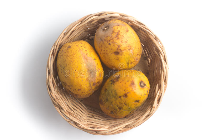 Frutta di Caja-manga Spondias dulcis fotografie stock