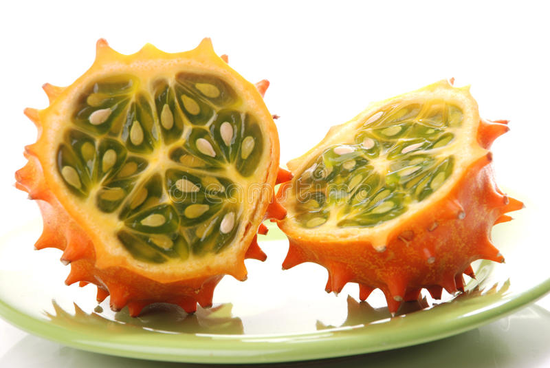 Frutta di Kiwano fotografia stock libera da diritti