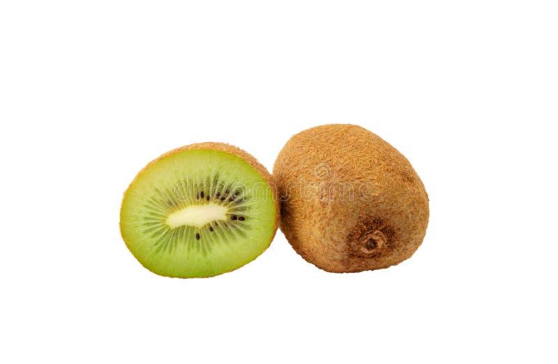 Frutta di kiwi matura su priorità bassa bianca fotografia stock
