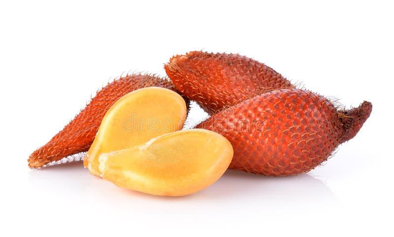Frutta di Salak, zalacca di Salacca isolata sui precedenti bianchi immagini stock