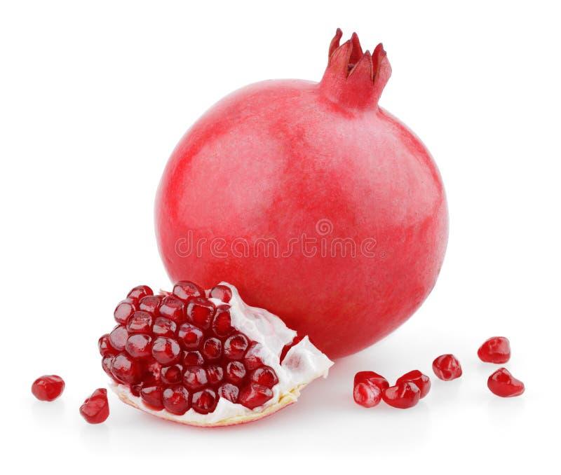 Frutta dolce del melograno con i semi fotografie stock