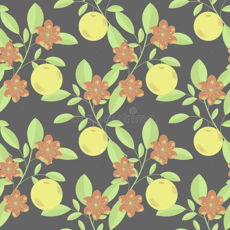 Frutta E Fiori Immagine Stock